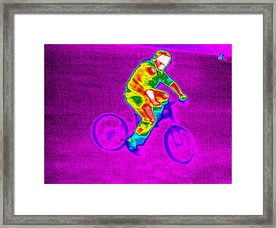 Cycling, Thermogram Framed Print by Tony Mcconnell