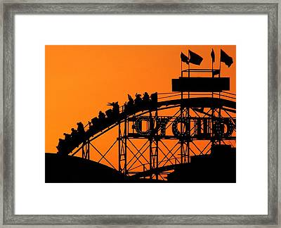 Cyclone Framed Print by Mitch Cat