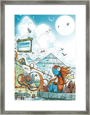 Cydonia - Lost Mars Framed Print by Luis Peres