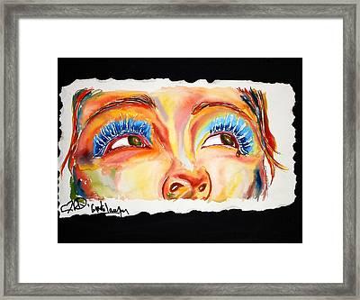 Cyn's Tear Framed Print by Joseph Lawrence Vasile