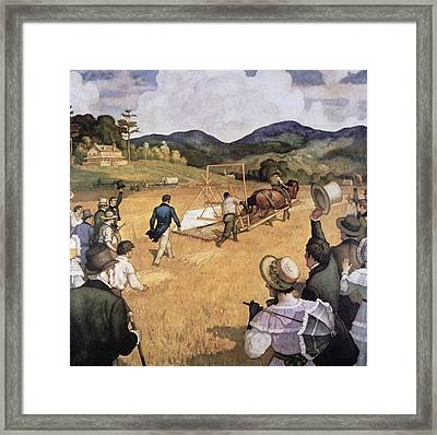 Cyrus H Mccormick And His Reaping Machine Framed Print by Newell Convers Wyeth