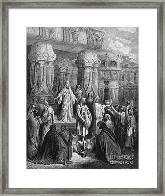Cyrus Restoring The Vessels Framed Print by Photo Researchers