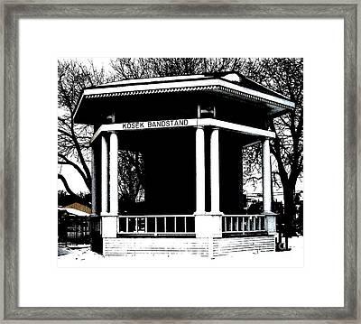 Czech Village Bandstand Framed Print by Marsha Heiken