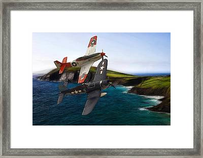 D-day Framed Print by Stefan Kuhn