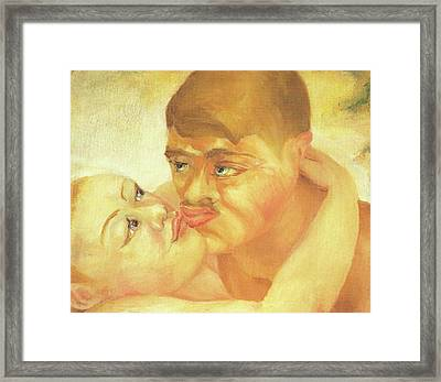 D H Lawrence Close Up Kiss Framed Print by D H Lawrence