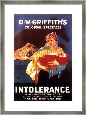 D W Griffith's Intolerance 1916 Framed Print by Mountain Dreams