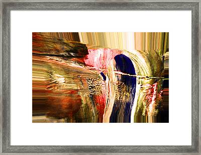 Dabbed Abstract Framed Print by Jeff Swan