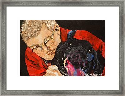 Daddy And Borus Framed Print by Laura  Grisham