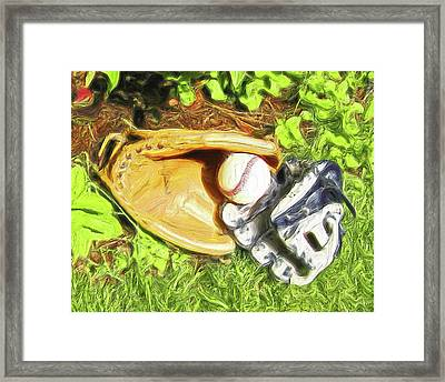 Daddy And Me Framed Print by Carla G Art Nitkey