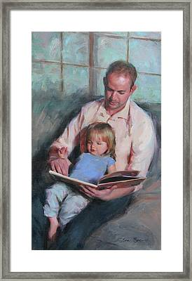 Daddy's Girl Framed Print by Anna Rose Bain