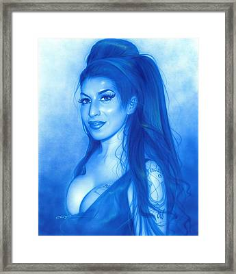 Amy Winehouse - ' Daddy's Girl ' Framed Print by Christian Chapman Art