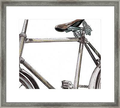 Dad's Bike Framed Print by Glenda Zuckerman