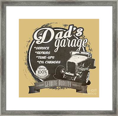 Dad's Garage-1932 Ford Framed Print by Paul Kuras