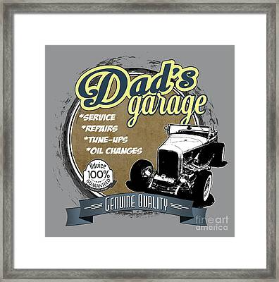 Dad's Garage-32 Ford Framed Print by Paul Kuras