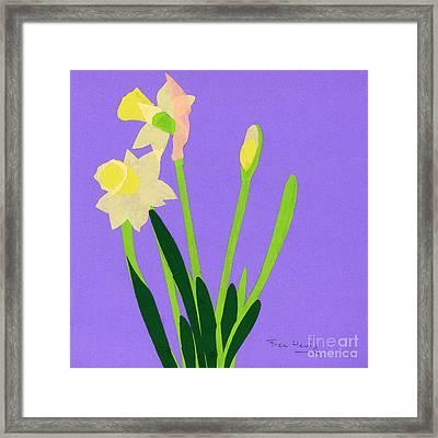 Daffodils Framed Print by Fran Henig