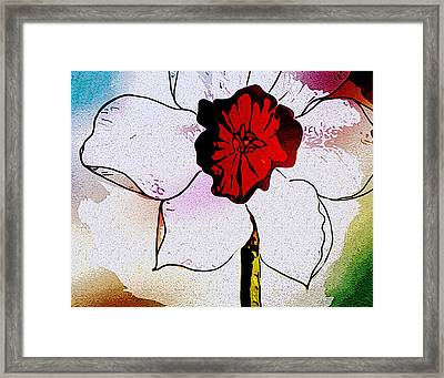 Daffy Down Dilly Framed Print by Susan  Epps Oliver
