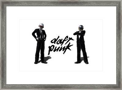 Daft Punk - 132 Framed Print by Jovemini ART