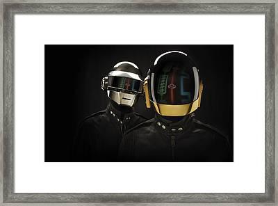 Daft Punk - 639 Framed Print by Jovemini ART