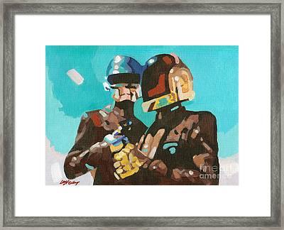 Daft Punk Framed Print by Lorna Marie Stephens