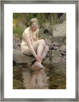 Dagmar Framed Print by Anders Leonard Zorn