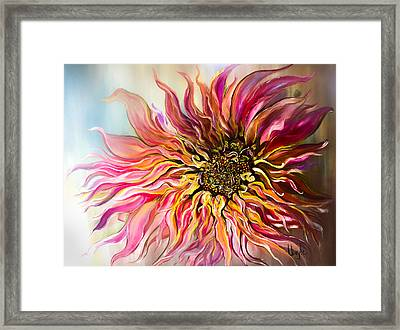 Dahlia Queen Framed Print by Thuy Le