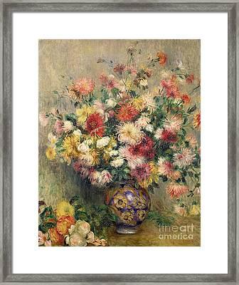 Dahlias Framed Print by Pierre Auguste Renoir