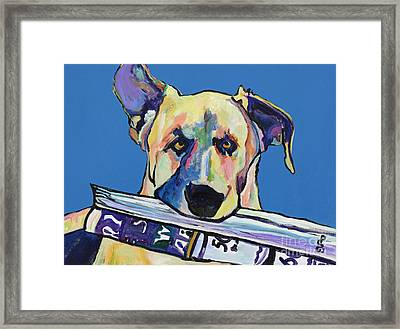 Daily Duty Framed Print by Pat Saunders-White