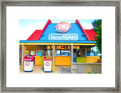 Dairy Queen Framed Print by Lanjee Chee