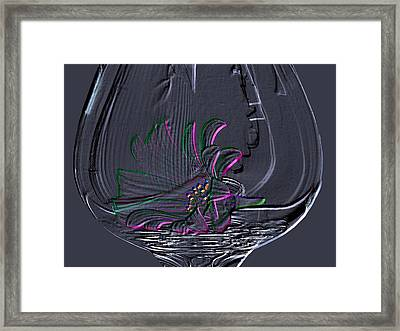 Daisy In Glass Framed Print by Evelyn Patrick