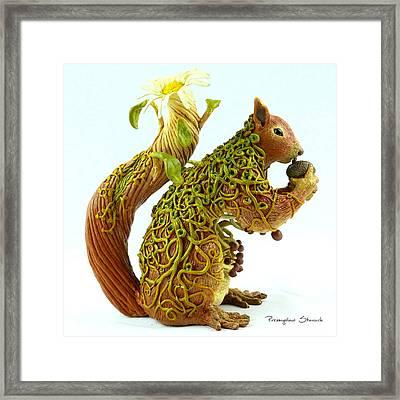 Daisy Squirrel Framed Print by Przemyslaw Stanuch