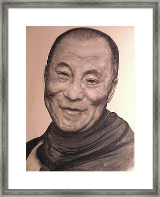 Dalai Lama Framed Print by Adrienne Martino