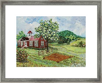 Dale Enterprise School Framed Print by Judith Espinoza