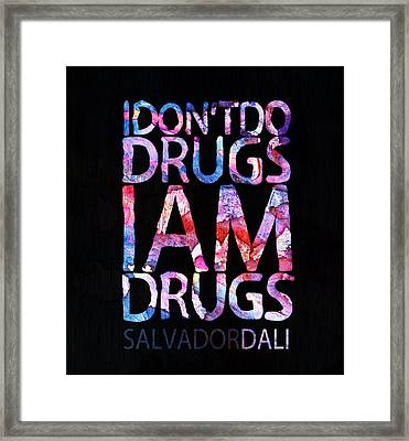 Dali Quote Framed Print by Jacky Gerritsen