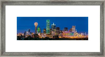 Dallas After Dark Framed Print by Tod and Cynthia Grubbs