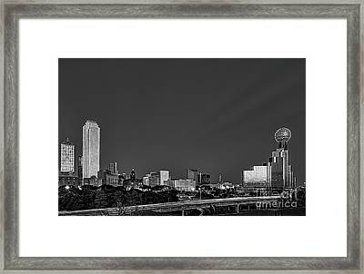 Dallas Black And White Framed Print by Tod and Cynthia Grubbs