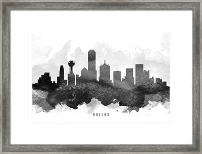 Dallas Cityscape 11 Framed Print by Aged Pixel