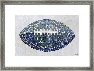 Dallas Cowboy Football Framed Print by Mitch Frey