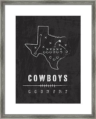 Dallas Cowboys Country Framed Print by Damon Gray