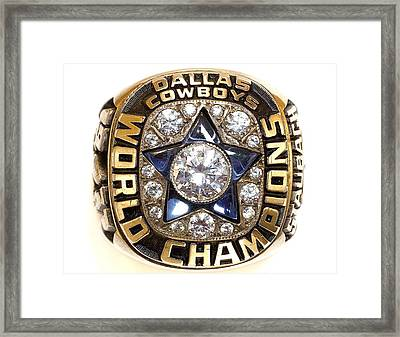 Dallas Cowboys First Super Bowl Ring Framed Print by Paul Van Scott