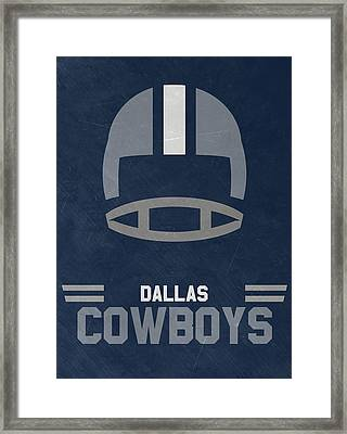 Dallas Cowboys Vintage Art Framed Print by Joe Hamilton