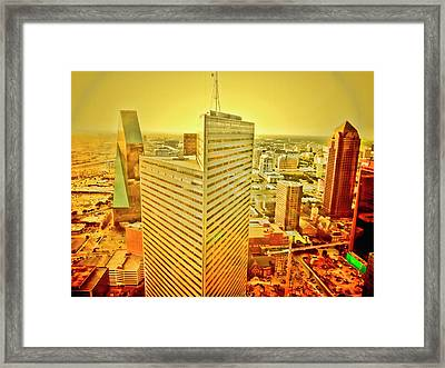 Dallas Gold Framed Print by Douglas Barnard