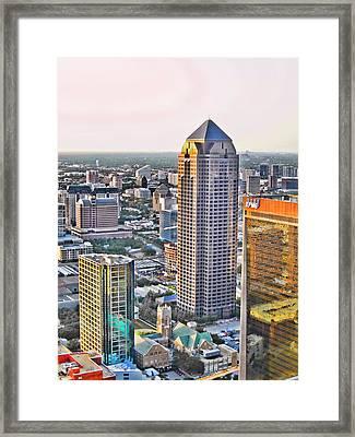 Dallas Hdr Framed Print by Douglas Barnard