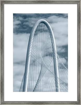 Dallas Hunt Hill Bridge With Clouds Framed Print by Tod and Cynthia Grubbs