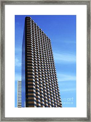 Dallas Skyscraper Framed Print by Joy Tudor