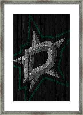 Dallas Stars Wood Fence Framed Print by Joe Hamilton