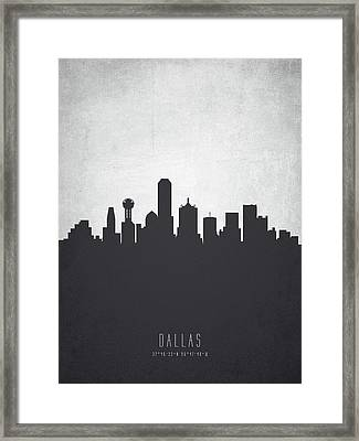 Dallas Texas Cityscape 19 Framed Print by Aged Pixel