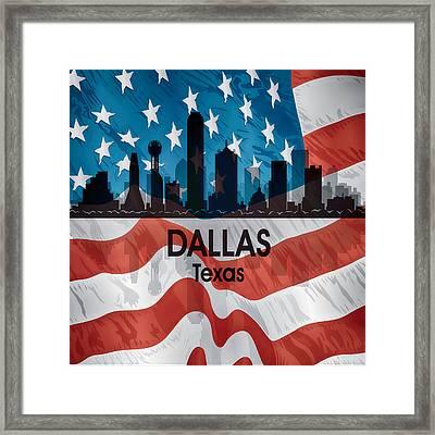 Dallas Tx American Flag Framed Print by Angelina Vick