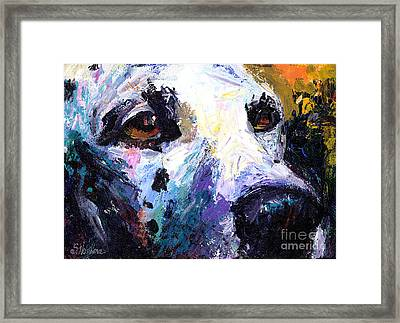 Dalmatian Dog Painting Framed Print by Svetlana Novikova