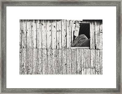 Damaged Hut Framed Print by Tom Gowanlock