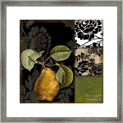 Damask Lerain Framed Print by Mindy Sommers